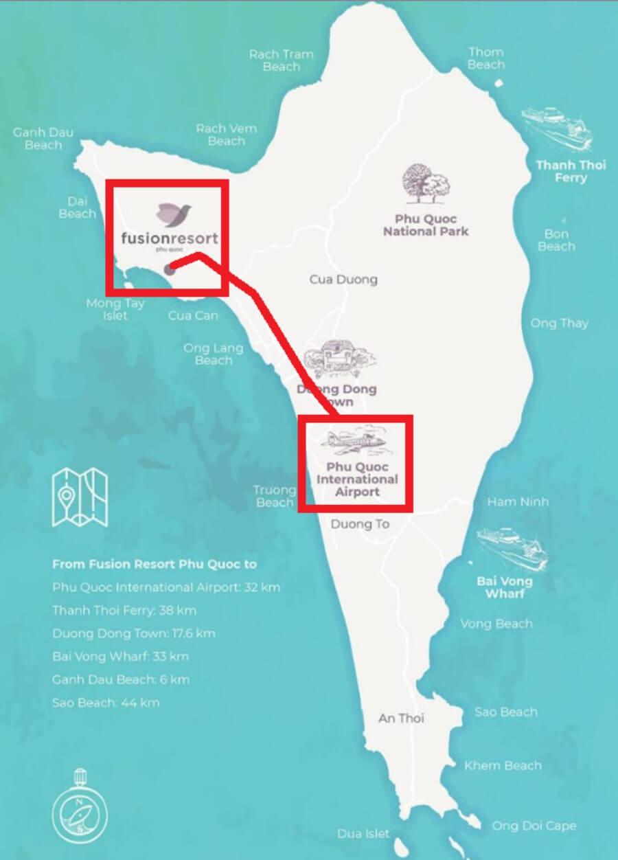 フュージョンリゾートの地図