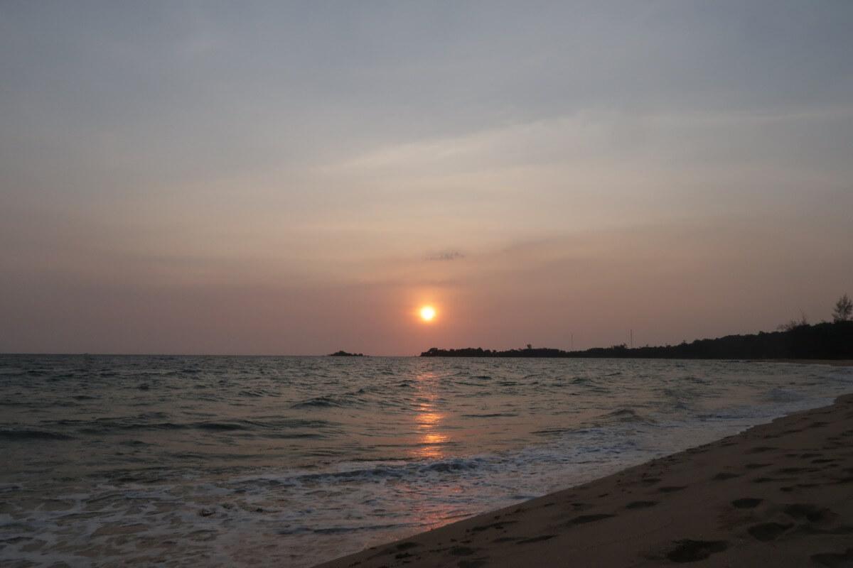 フュージョンリゾートの夕日