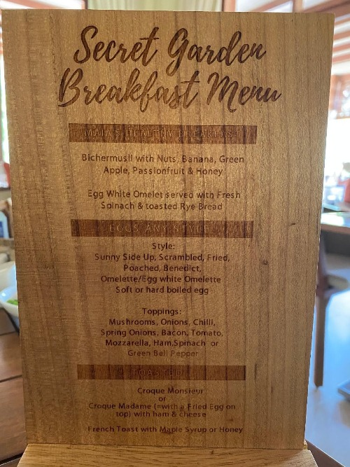 フュージョンリゾートの朝食1