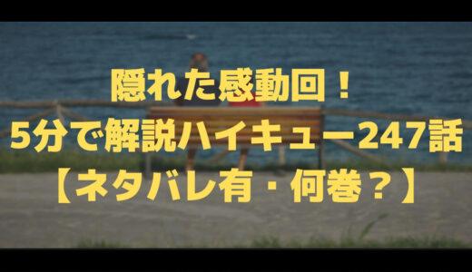 隠れた感動回!5分で解説ハイキュー247話【ネタバレ有・何巻?】