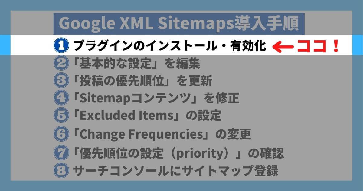 Google XML Sitemaps導入手順①