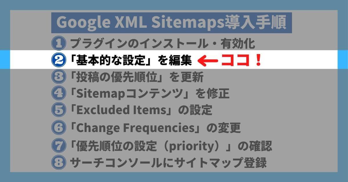 Google XML Sitemaps導入手順②