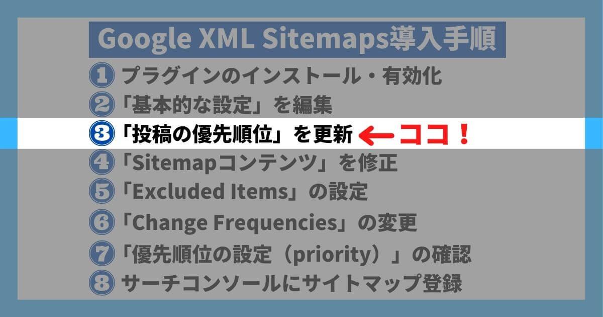 Google XML Sitemaps導入手順③