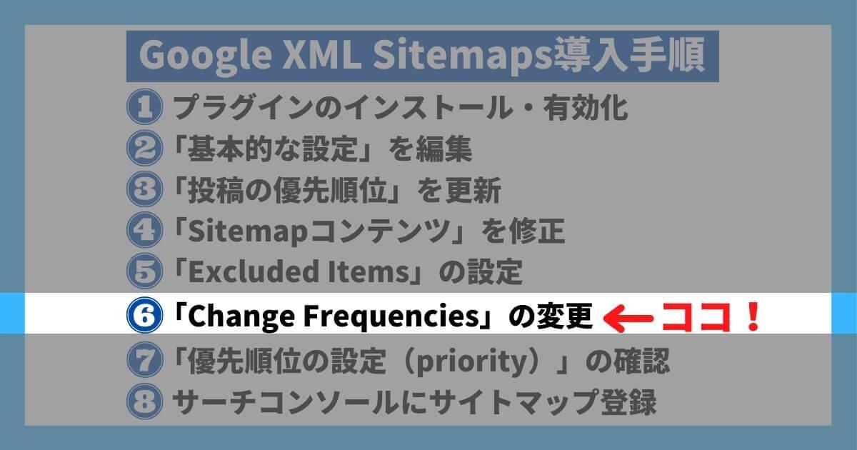 Google XML Sitemaps導入手順⑥