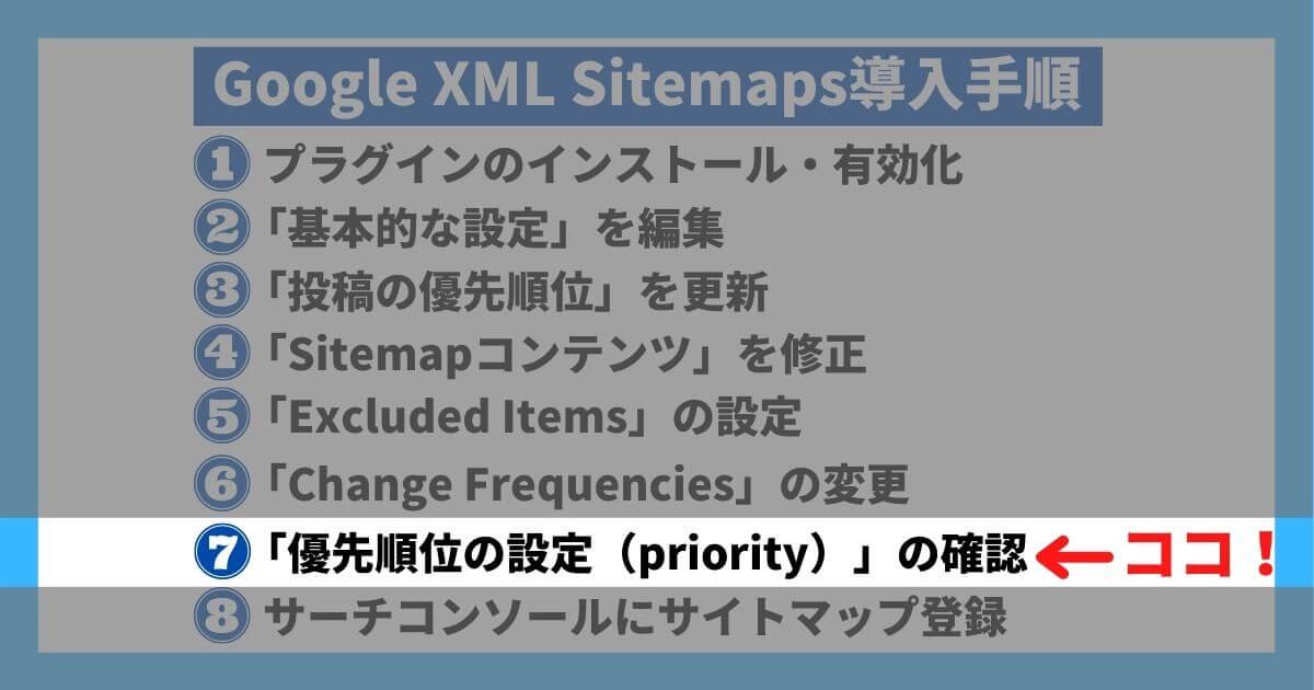 Google XML Sitemaps導入手順⑦