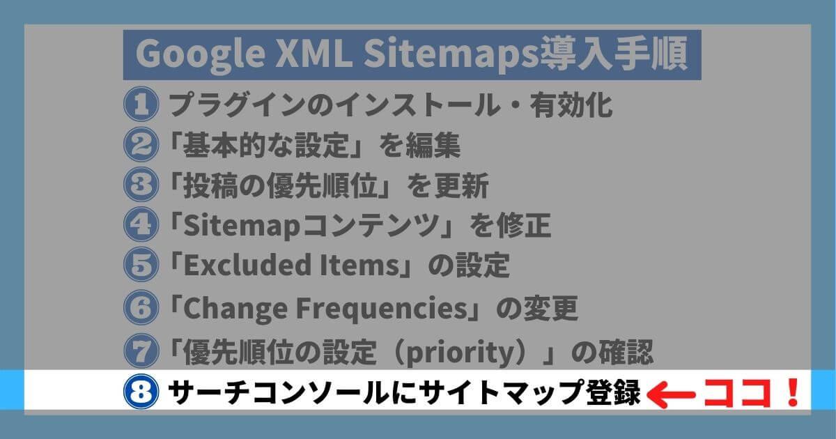 Google XML Sitemaps導入手順⑧
