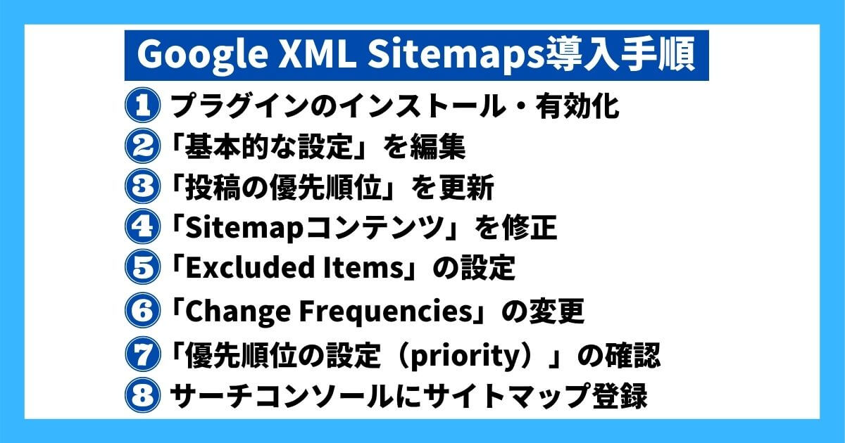 Google XML Sitemaps導入手順