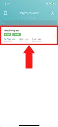 RankBuddyブログ選択画面